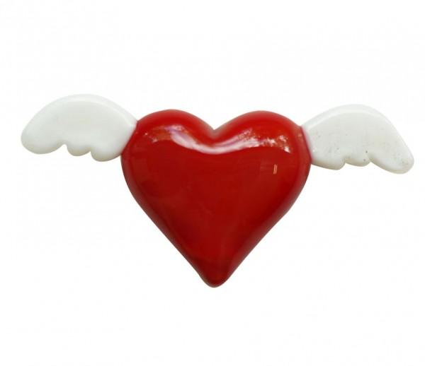 Geflügeltes Herz der Liebe
