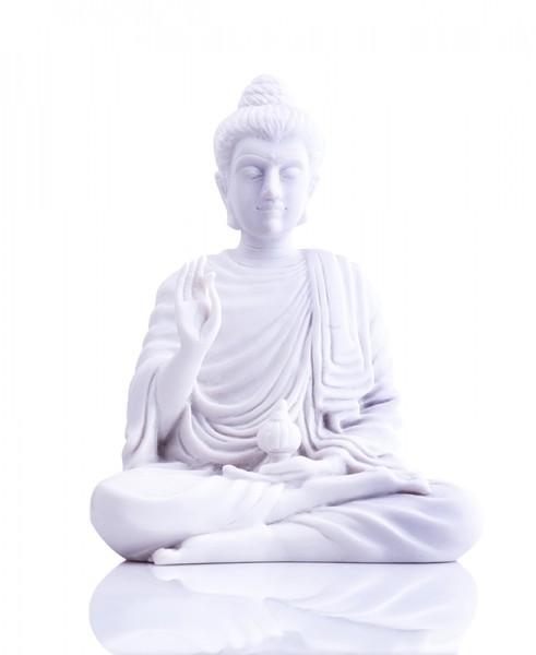 Medizin-Buddha, Schutz vor Neid u. Eifersucht aus Alabaster