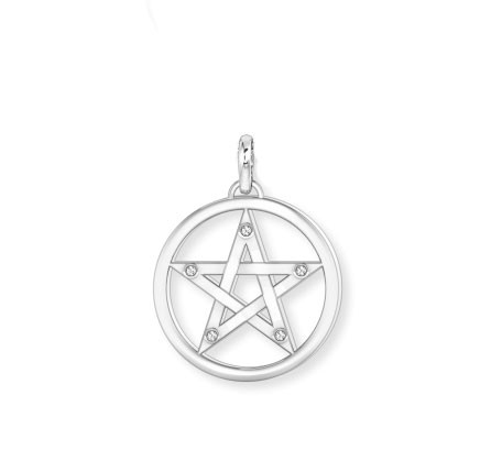 Anhäner Pentagram mit Zirkonia
