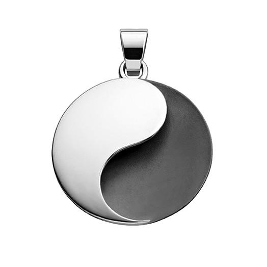 Anhänger Yin-Yang teilgschwärzt