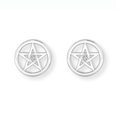 Ohstecker Pentagram mit Zirkonia