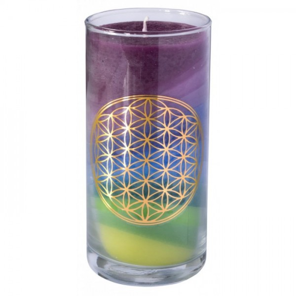 Blume des Lebens Kerze - Erdenergie