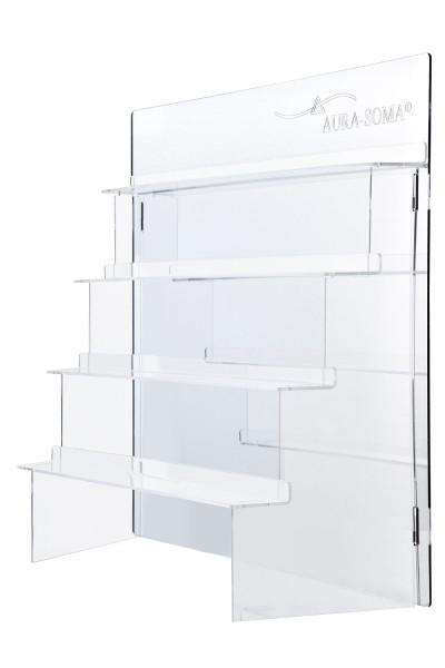 Display Treppe für Aura-Soma Flaschen mit Spiegelrückwand