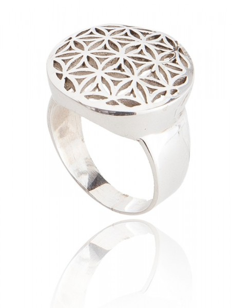 Ring Silber Blume des Lebens