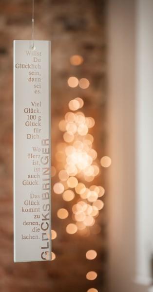 """Poesie-Fensterbild """"Glücksbringer"""""""