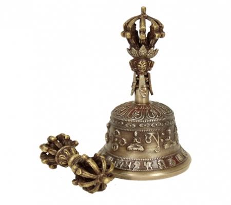 Dorje und Glocke aus Messing im Set