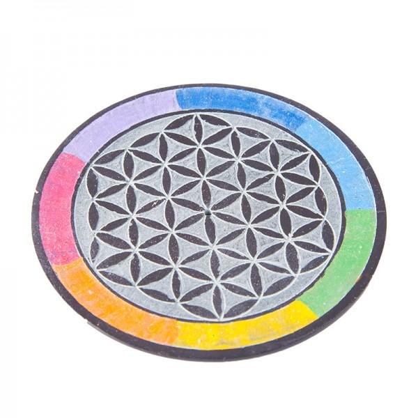 "Räucherstäbchenhalter ""Blume des Lebens – Rainbow"""