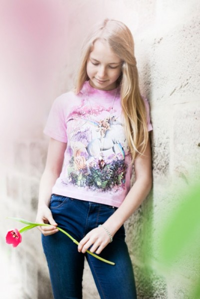 Rosa Einhorn T-Shirt