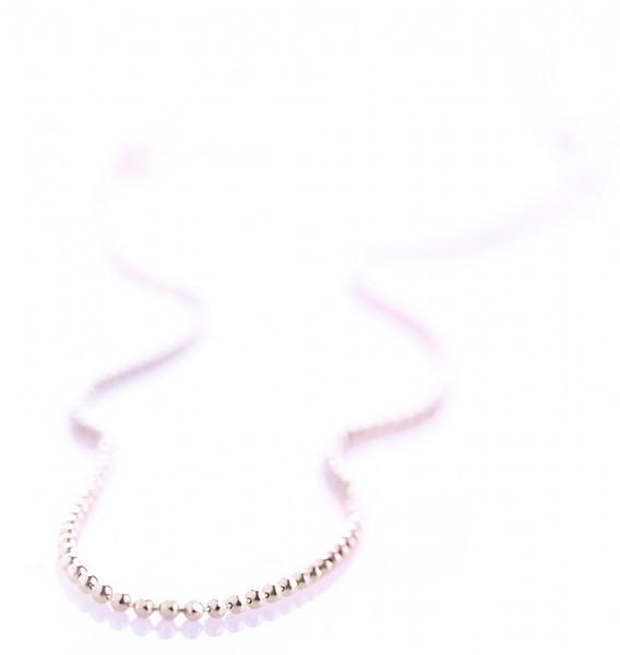 Geschliffene Kugelkette - Silber