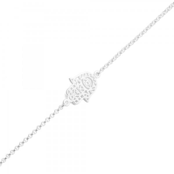 "Silber-Armband ""Fatima´s Hand"" 16+ 4cm"