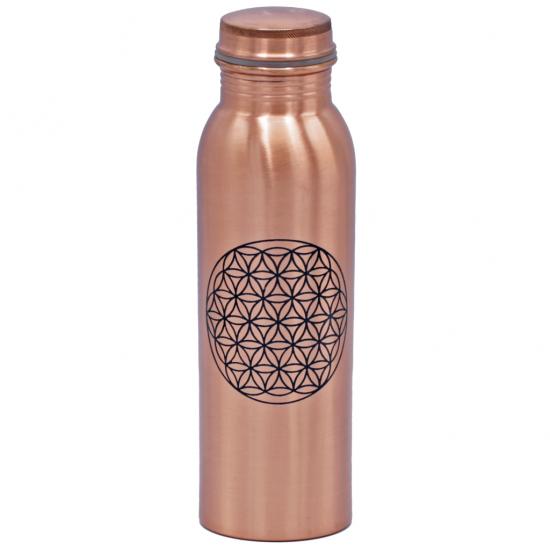 Kupferflasche Blume des Lebens