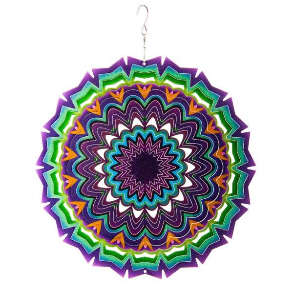 "Windspiel Mandala ""Blume"" aus Edelstahl"