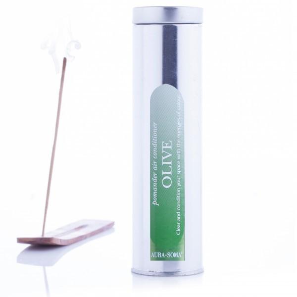 Aura-Soma Räucherstäbchen Pomander Olivegrün