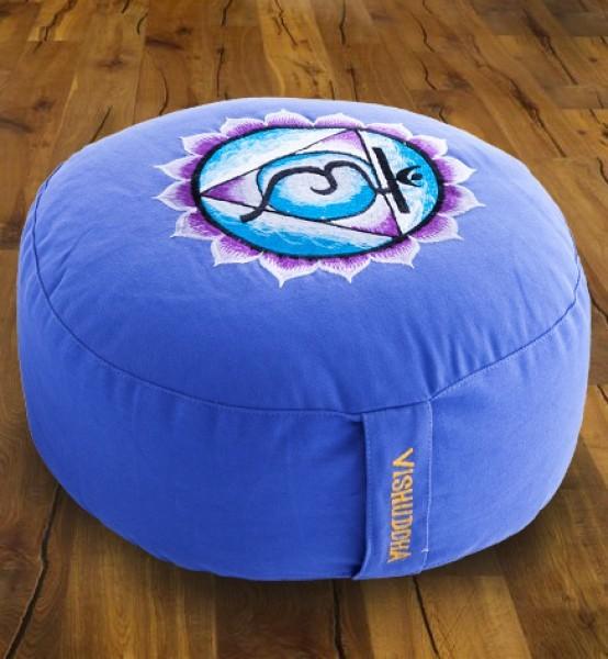 Meditationskissen Chakra 5, Vishuddha - blau