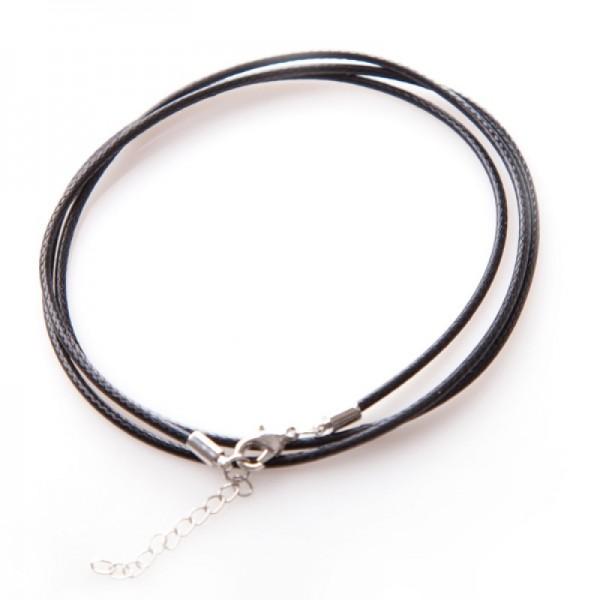 Gewachste Halskette aus Baumwolle